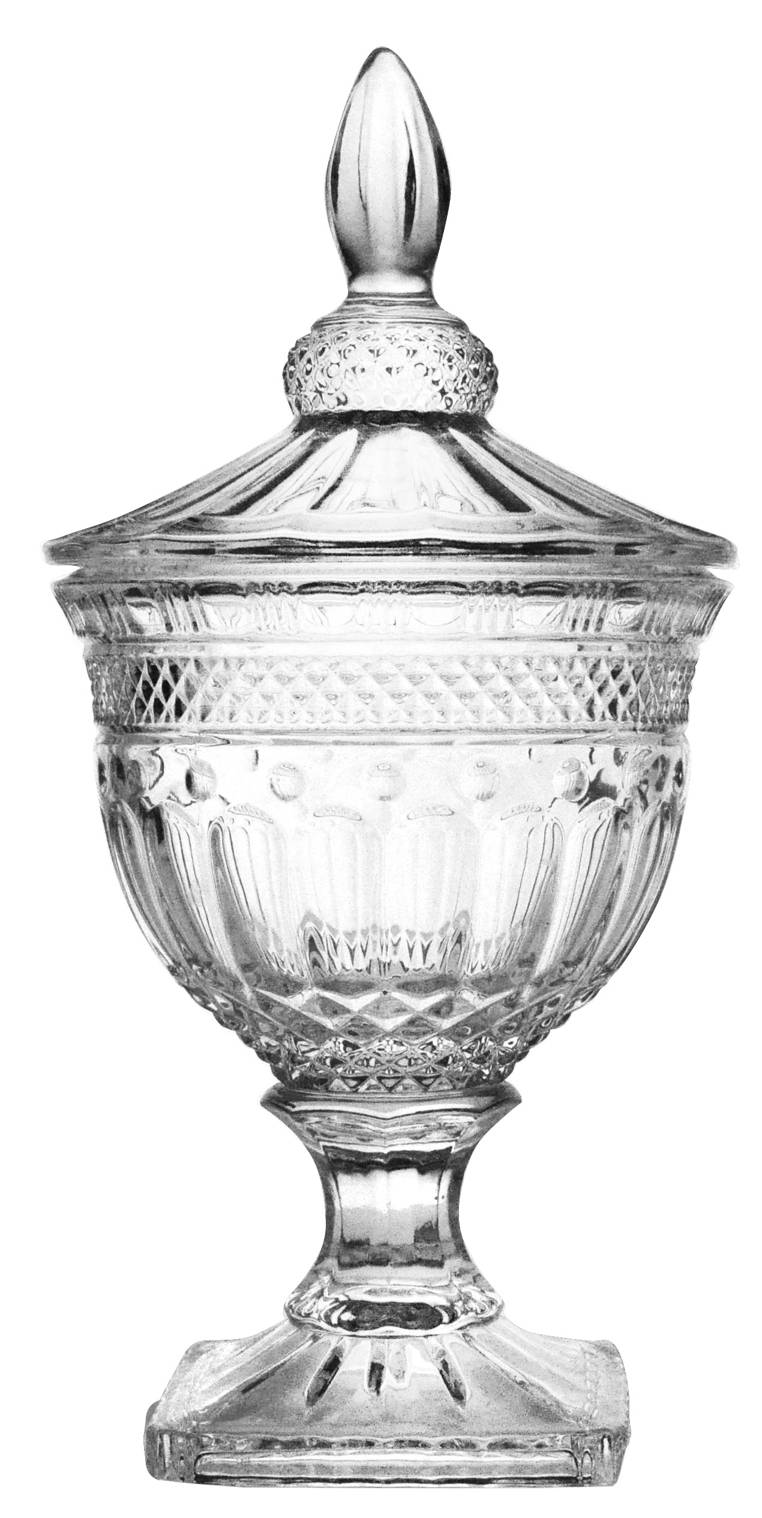 Bomboniere com Pé 24,8cm Cristal Florence