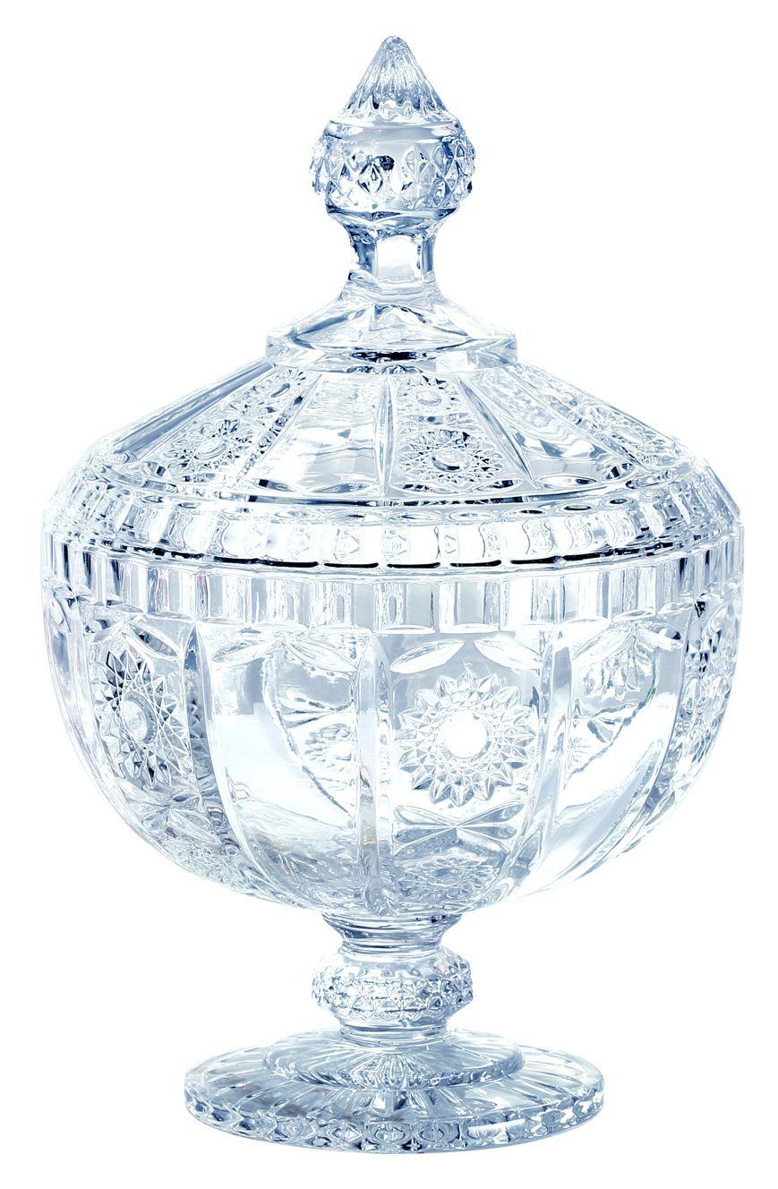 Bomboniere com Pé Cristal 23,8cm Versailles