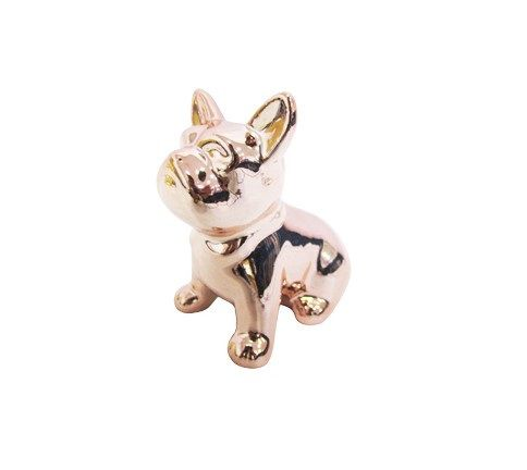 Cachorro de Porcelana Rosé Decorativo