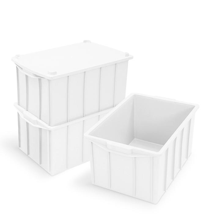 Caixa 26L Branca de Plástico