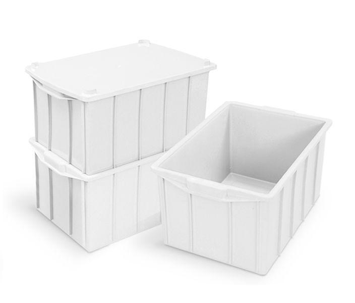 Caixa 38L Branca de Plástico