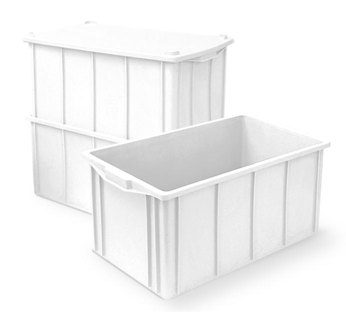 Caixa 61L Branca de Plástico