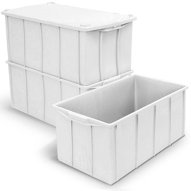 Caixa 70L Branca de Plástico