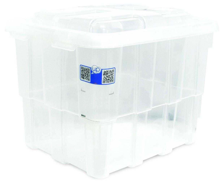 Caixa Box Fort 88,0 L Plástico Transparente