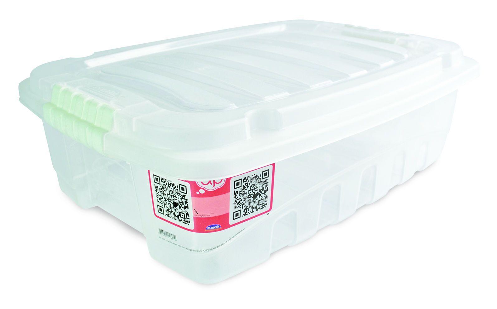 Caixa Gran Box Baixa 9,3 L Transparente