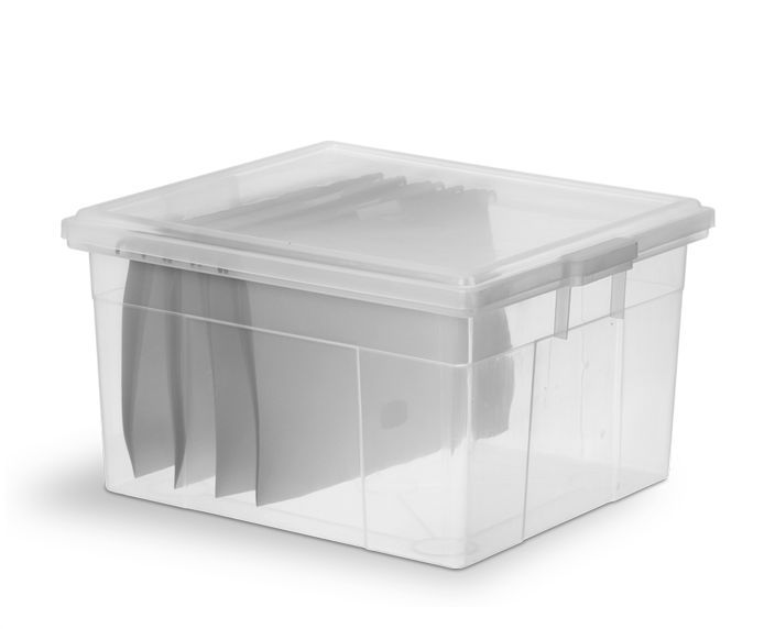 Caixa Organizadora 58L Transparente de Plástico