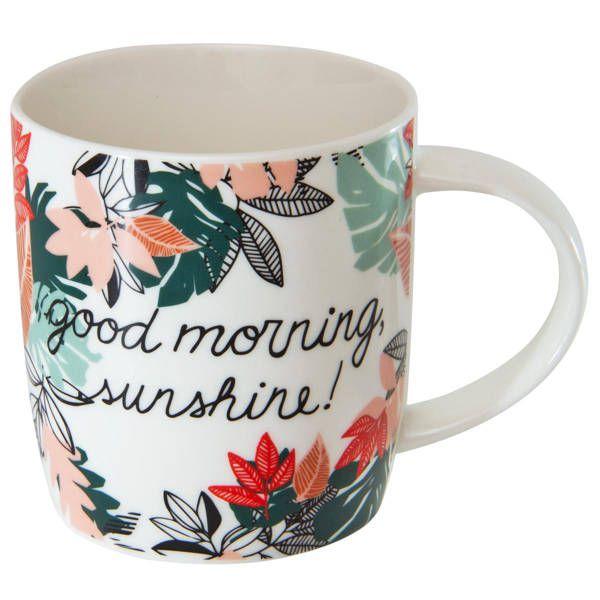 Caneca de Porcelana Good Morning  340ml