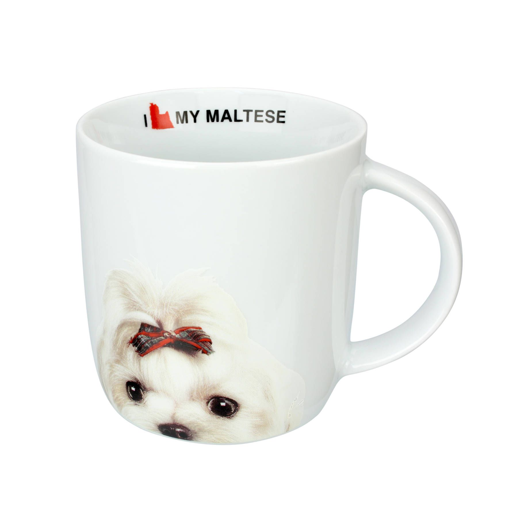 Caneca de Porcelana I Love My Maltese