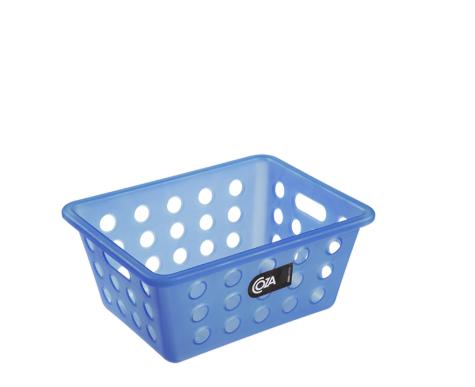 Cesta de Plástico Pequena Azul