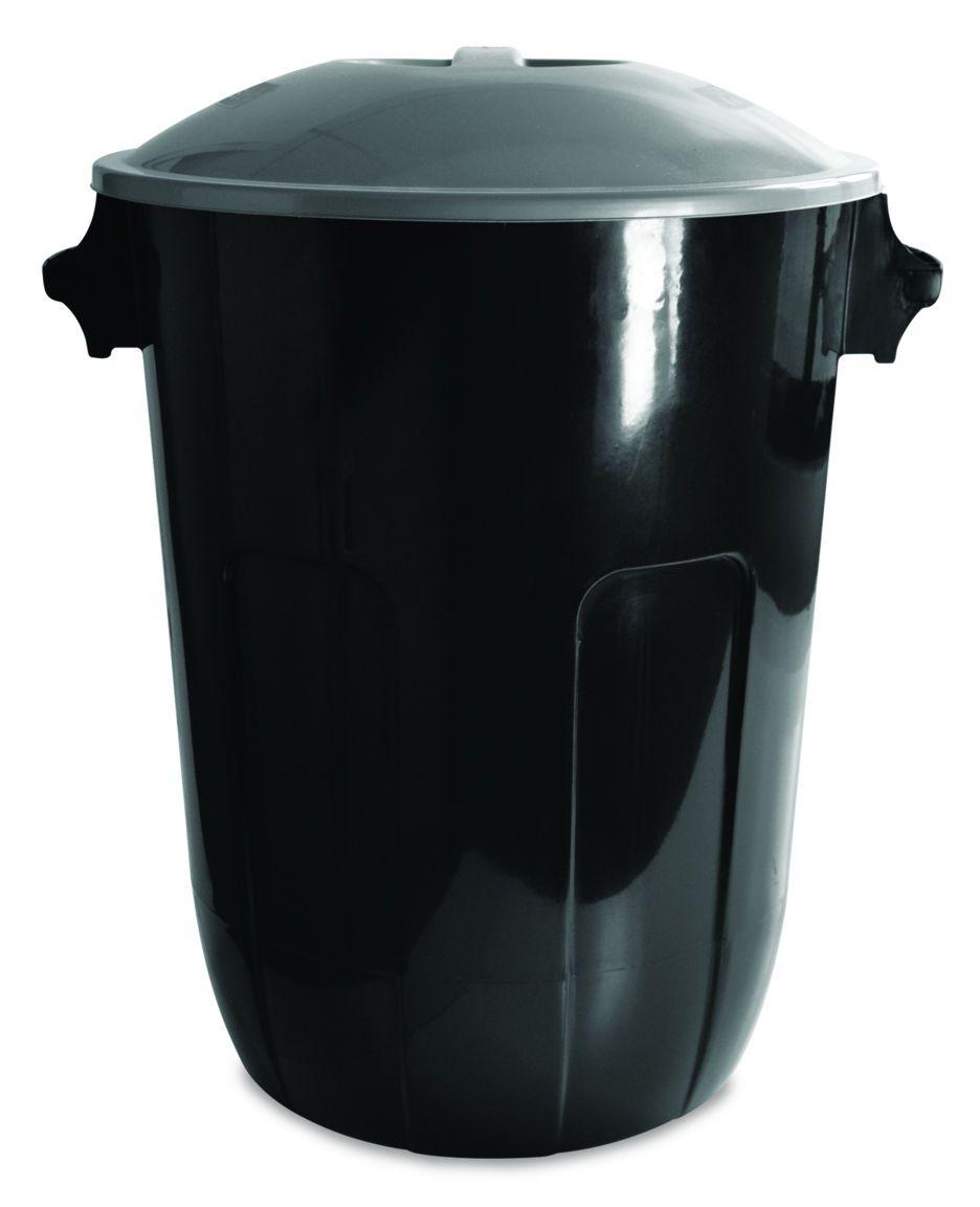 Cesto para Lixo com Tampa 62,0 L Ecoblack Preto