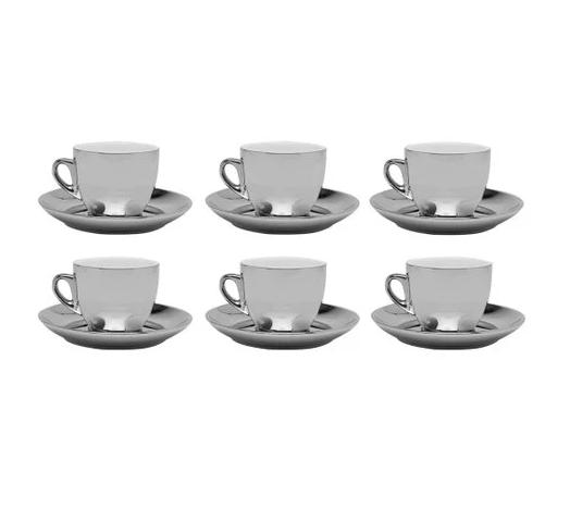 Conjunto 12pçs de Xícaras de Chá com Pires Versa 220ml