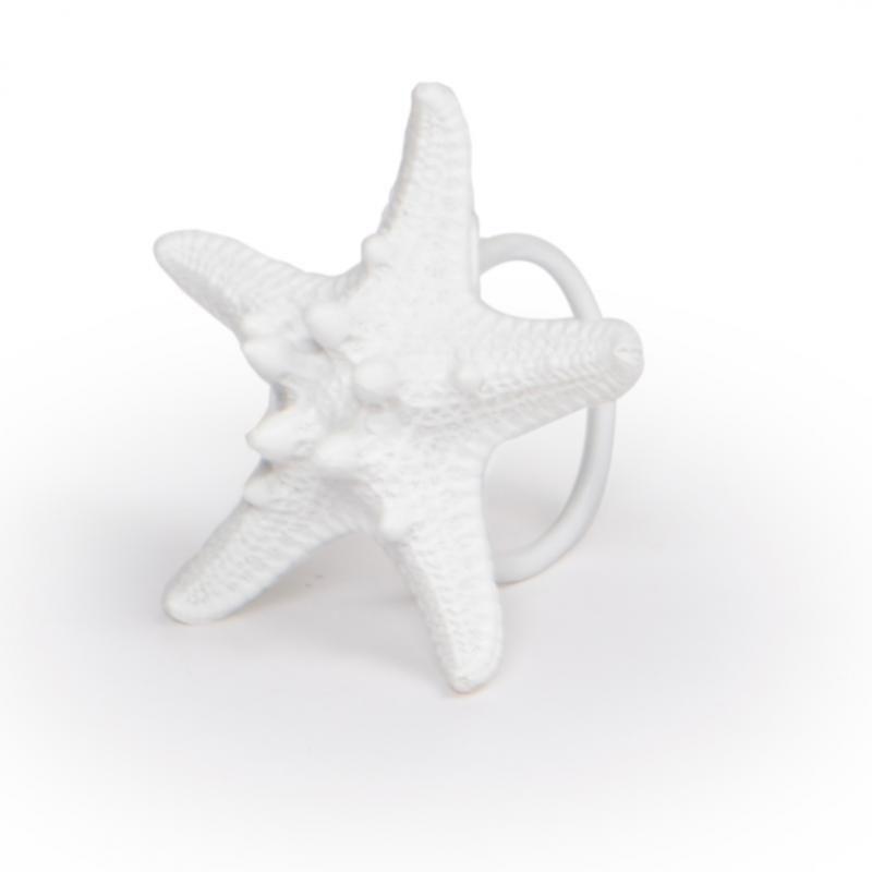 Conjunto 4 peças de Porta Guardanapo Branco Estrela do Mar