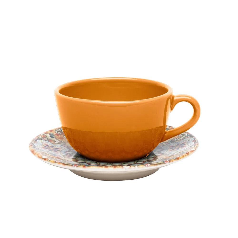 Conjunto de 12pçs Xícaras de Chá com Pires Castello