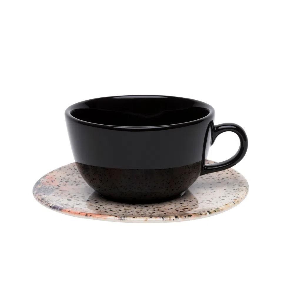 Conjunto de 12pçs Xícaras de Chá com Pires Terrazo