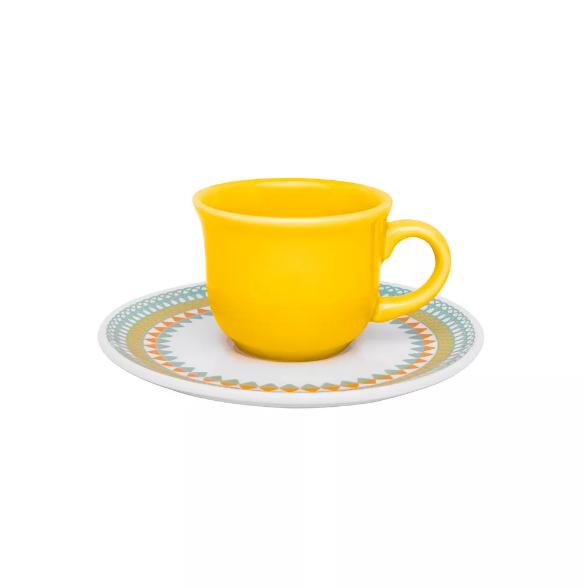 Conjunto de Café 12pçs Floreal Bilro