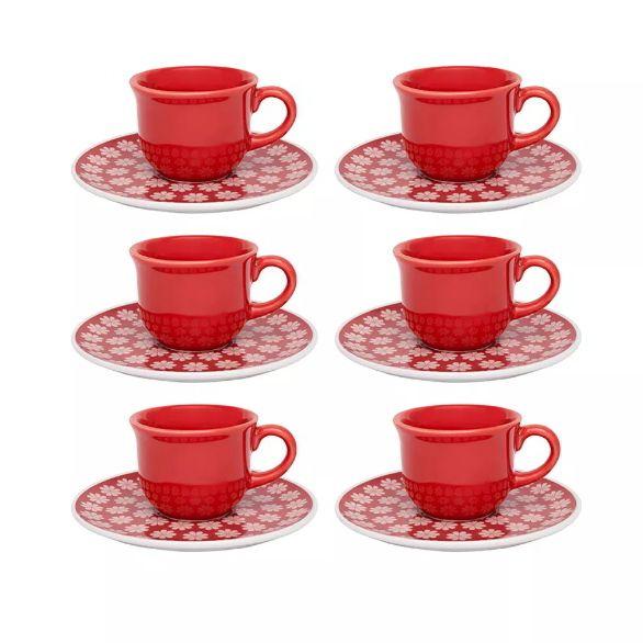 Conjunto de Café 65ml Floreal Renda