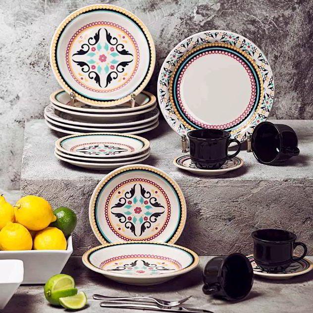 Conjunto de Xícaras de Chá com Pires 12pçs Floreal Luiza