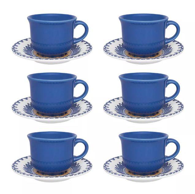 Conjunto de Xícaras de Chá com Pires 12pçs La Carreta