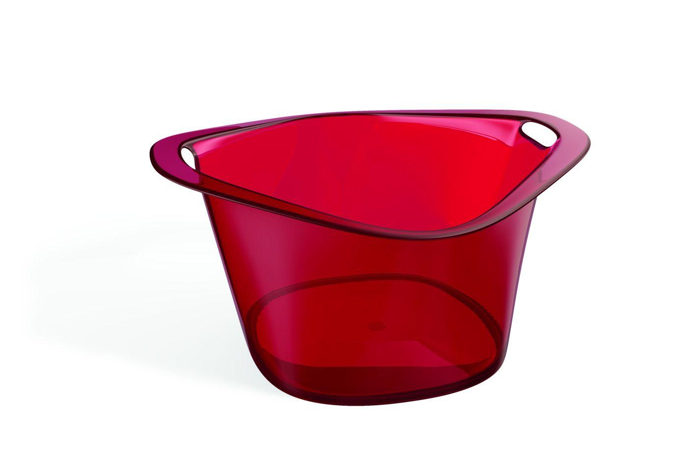 Cooler Acrílico 8,0 L Gold Vermelho Translúcido
