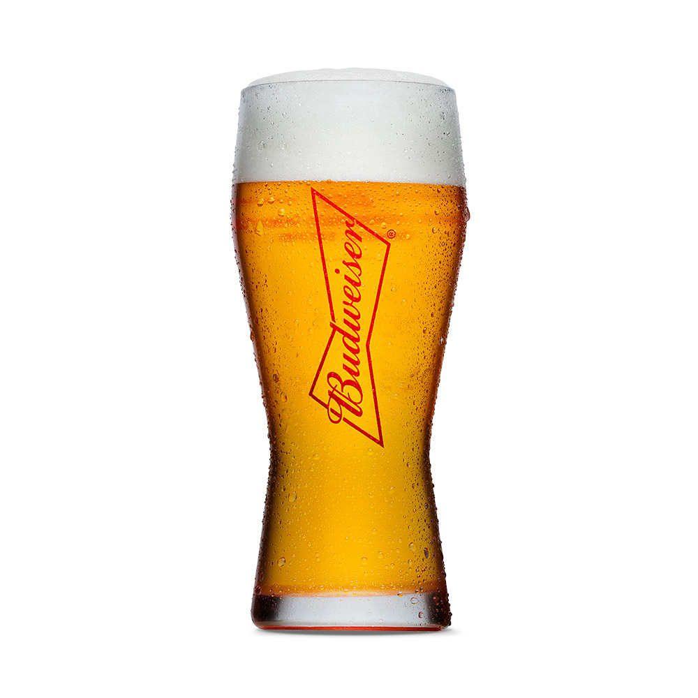 Copo para Cerveja 400ml Budweiser
