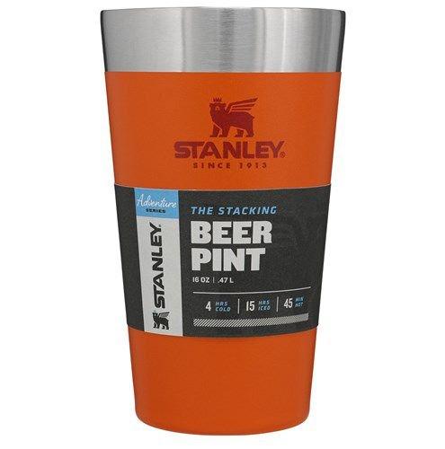 Copo Térmico de Cerveja Stanley  473ml Laranja