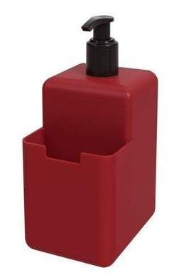 Dispenser Single 500ml Vermelho