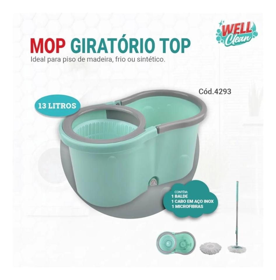 Esfregão Mop Giratório Top