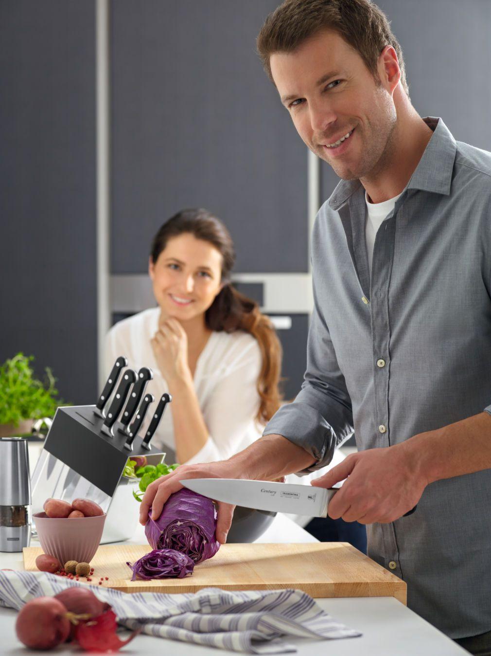 Faca para Cozinha 8'' Inox Century