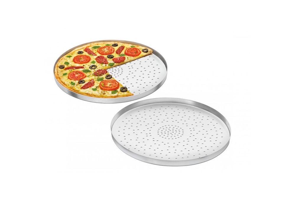 Forma de Pizza em Alumínio 25cm Com furos