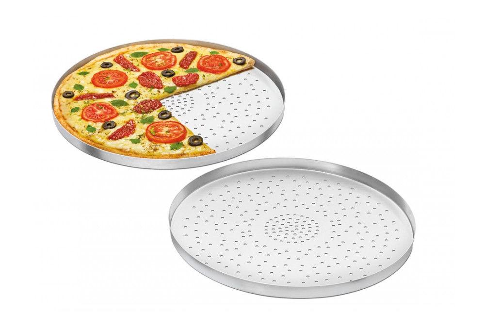Forma de Pizza em Alumínio 30cm Com furos