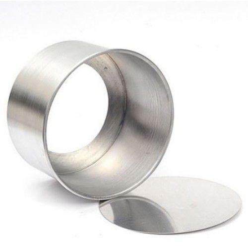 Forma Redonda Reta Fundo Falso de Alumínio 15x10cm