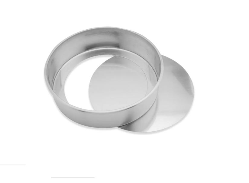 Forma Redonda Reta Fundo Falso de  Alumínio 20x10cm