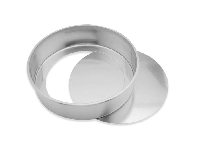Forma Redonda Reta Fundo Falso em Alumínio 15x5cm