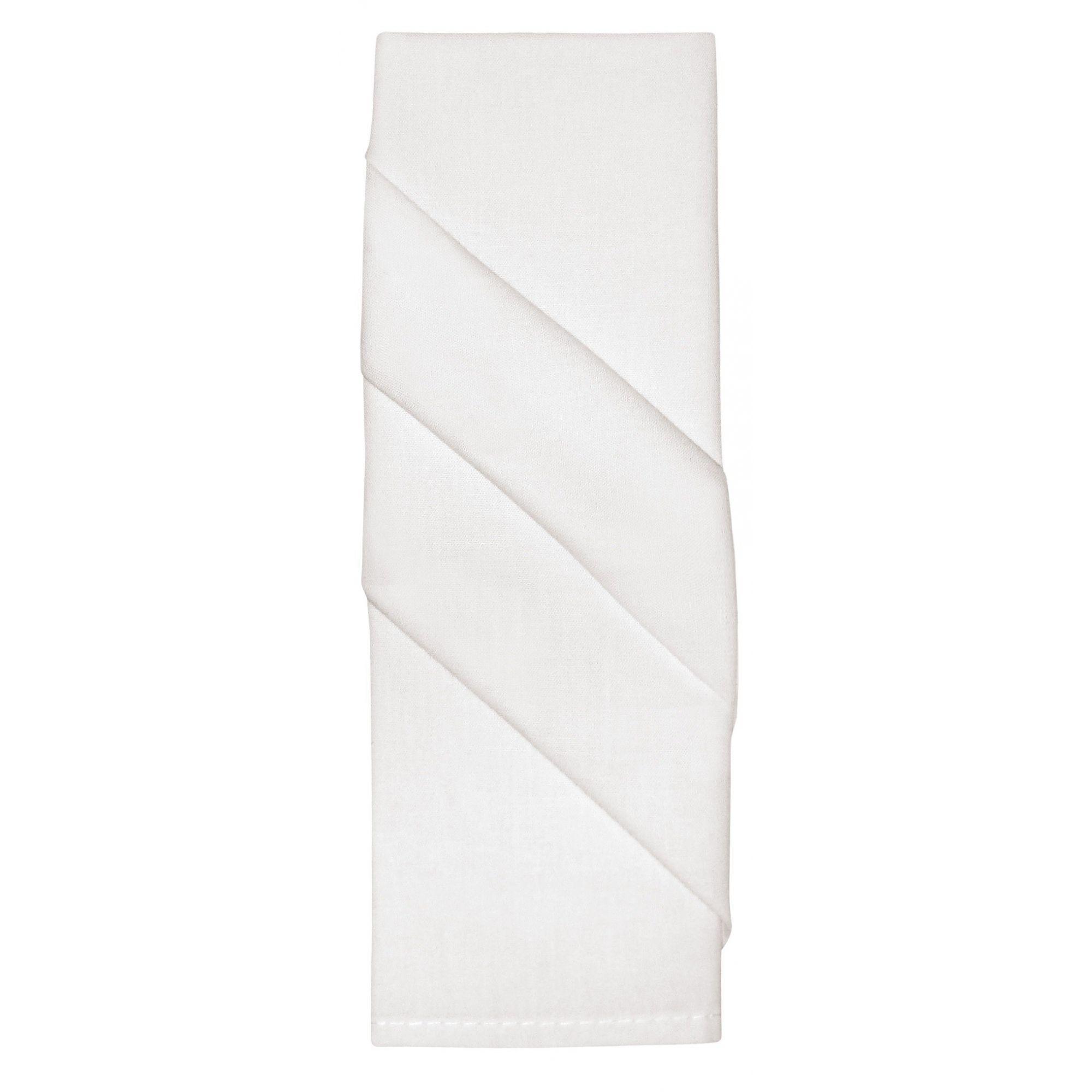 Guardanapo Tecido 45x45 cm 4pçs Home Branco