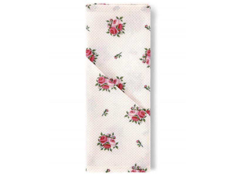 Guardanapo Tecido 45x45 cm 4pçs Home Mini Rosas