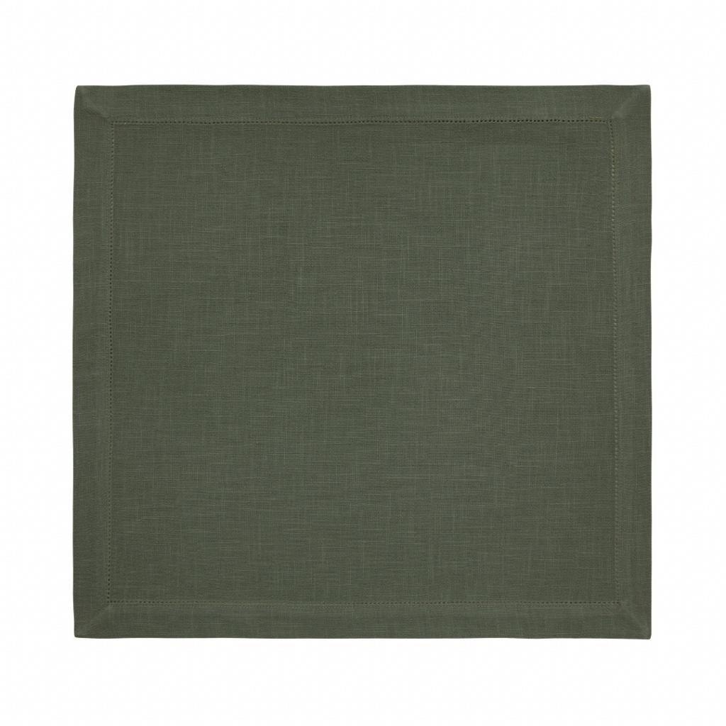Guardanapo Tecido 50x50 cm Ponto Ajour Coloratta Olive