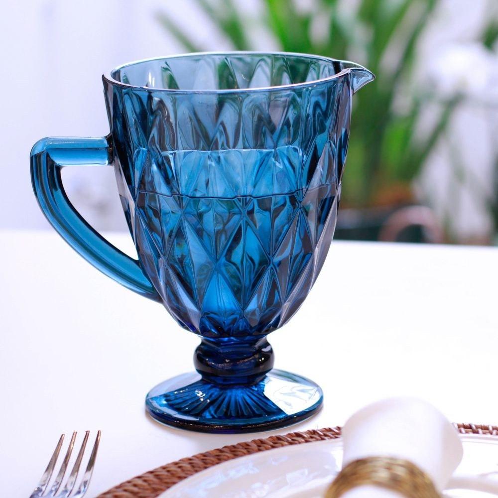 Jarra de Vidro 1L Diamante Azul