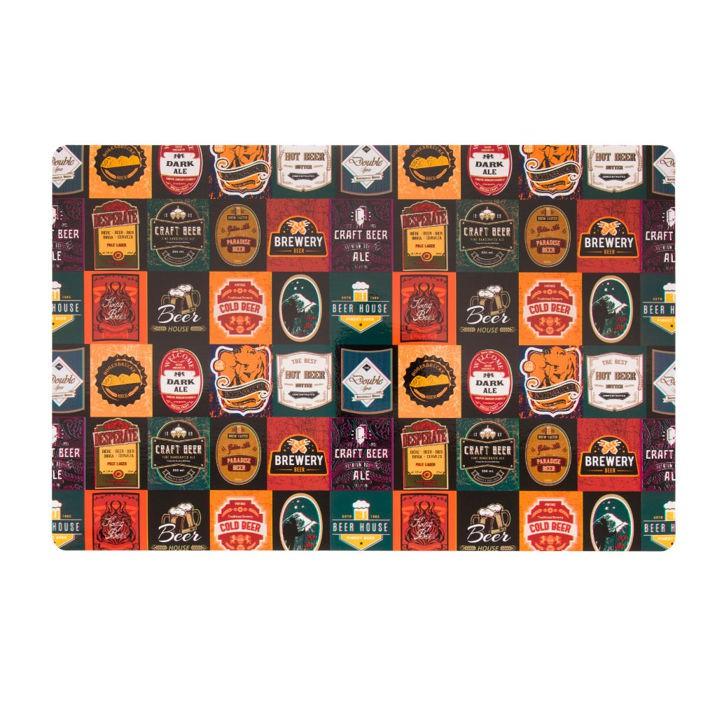 Jogo Americano 28x44 cm Print Beer Stamps