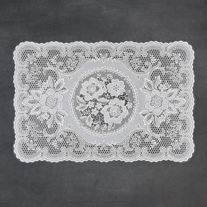 Jogo Americano 30 x 45 cm Laura Crochet Fina Flor