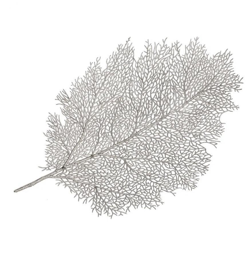 Jogo Americano 57cm Leaf Prata