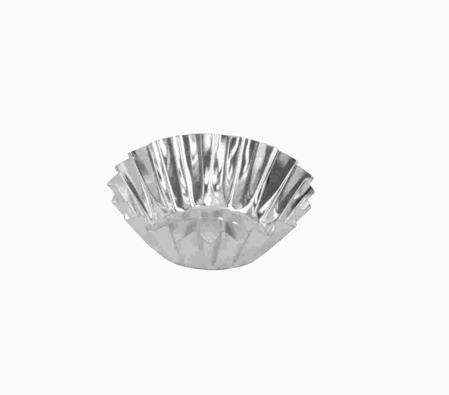 Jogo de 12pçs Forminhas Empada Crespa N°00 Alumínio