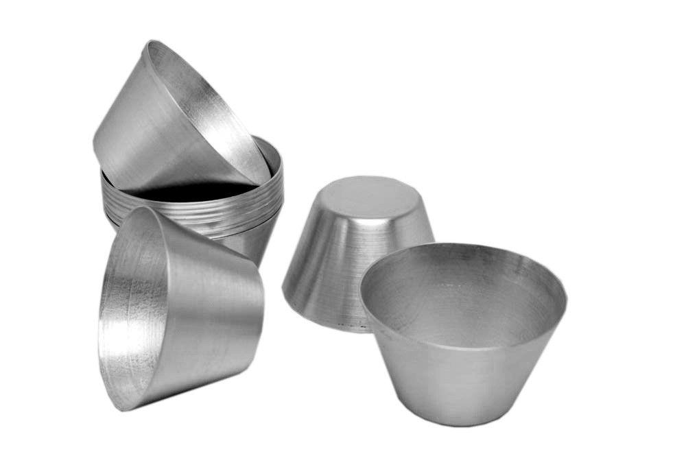 Jogo de 12pçs Forminhas Pudim Sobremesa de Alumínio