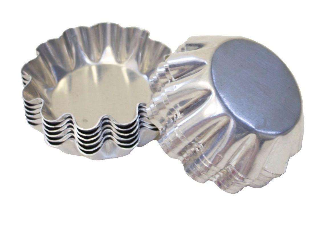 Jogo de 12pçs Forminhas Torteleta de Alumínio