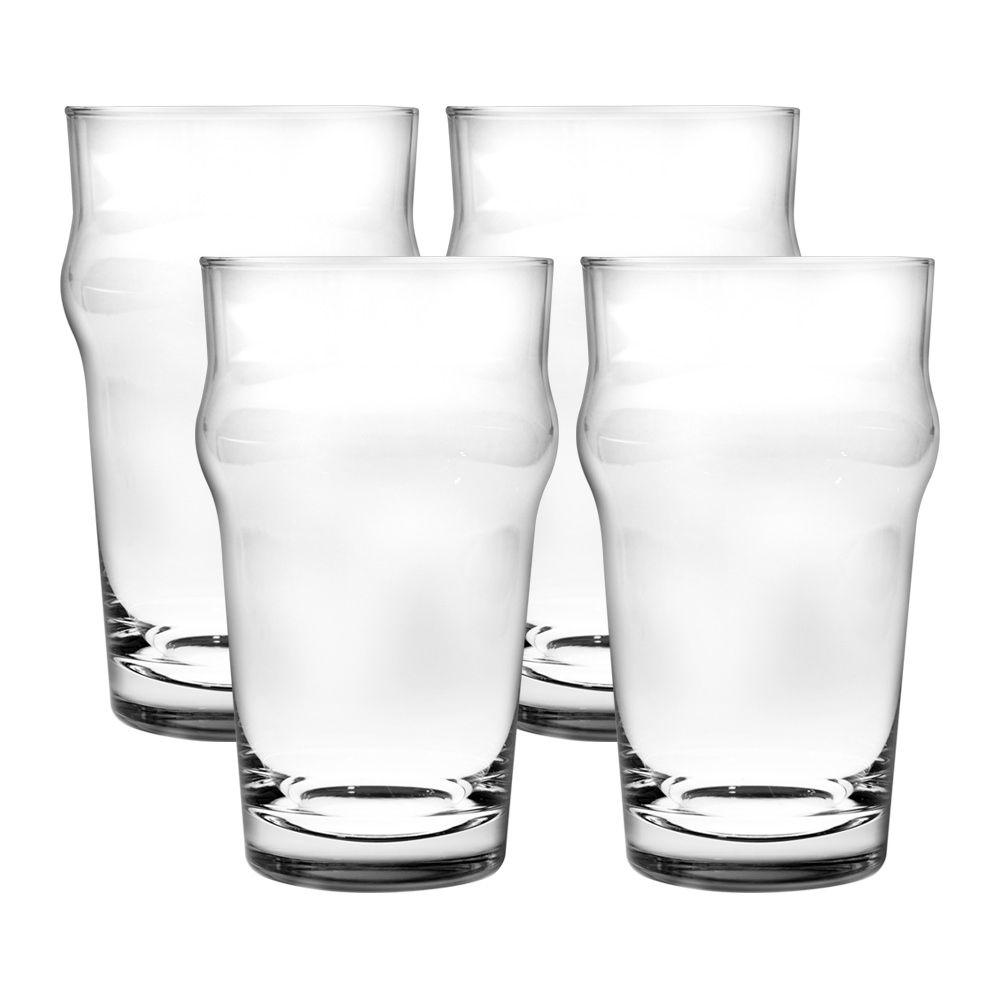 Jogo de 4 Copos de Cerveja 400ml Nonic