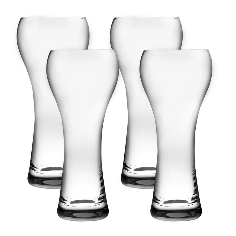 Jogo de 4 Copos de Cerveja 400ml Weisen