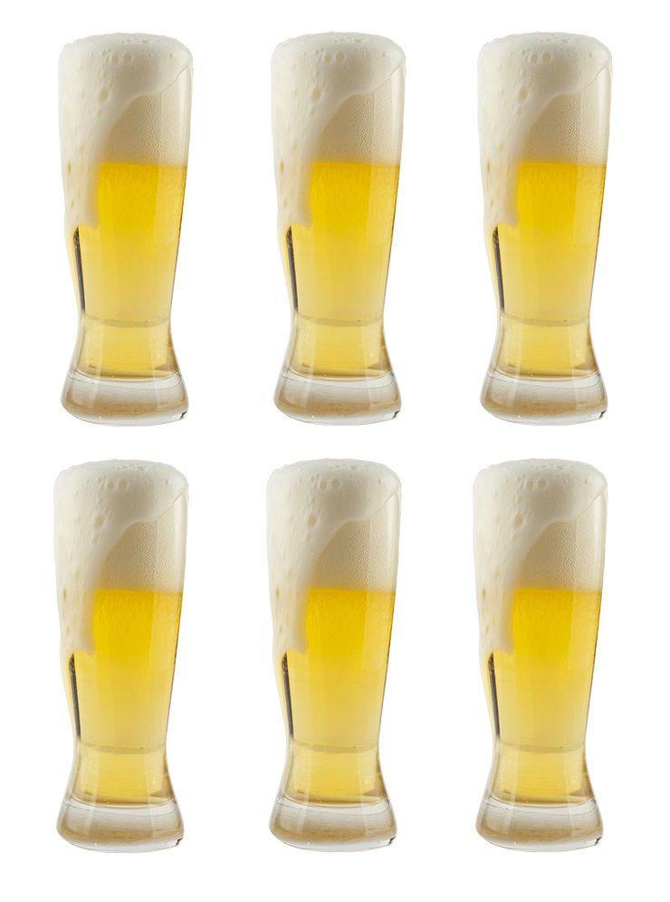 Jogo de 6 Copos de Cerveja  210 ml