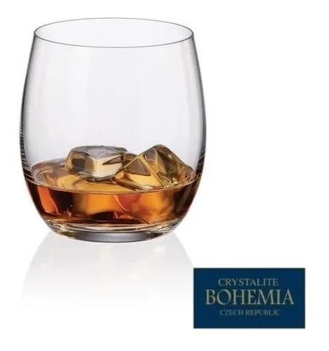 Jogo de 6 Copos de Whisky 410ml Mergus Cristal