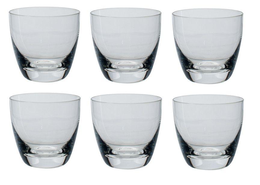 Jogo de 6 Copos Whisky  de Cristal 200ml