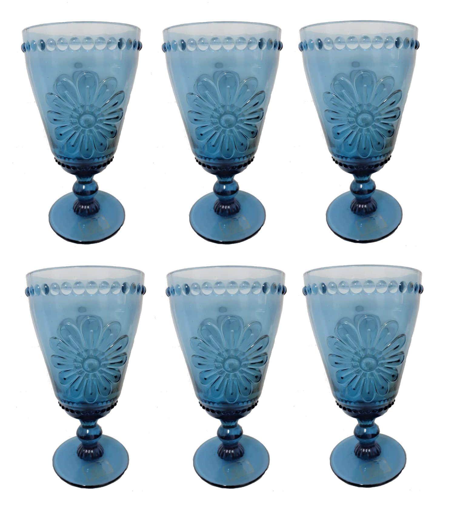 Jogo de 6 Taças 330ml Woodstock Azul