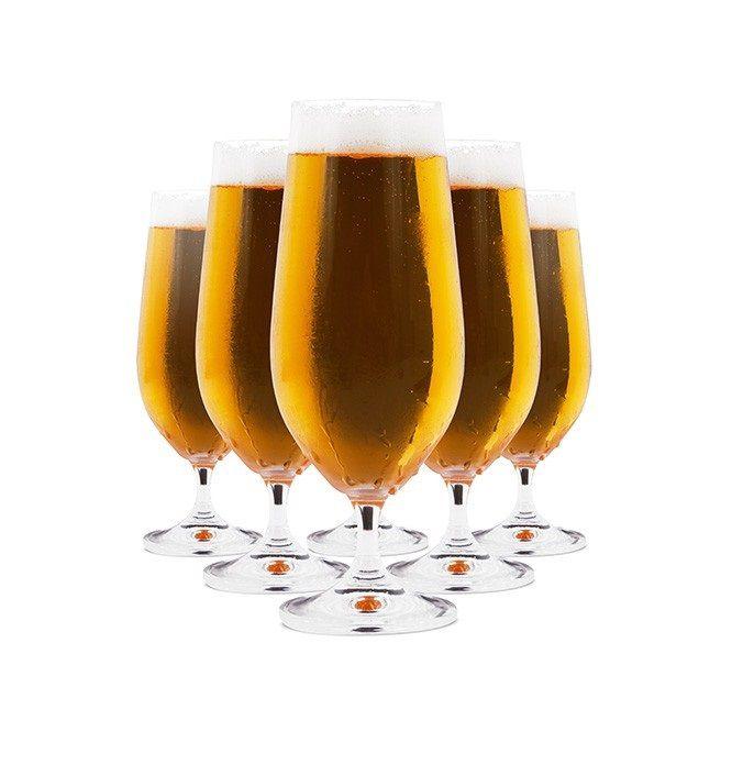 Jogo de 6 Taças Cristal Cerveja 380 ml Gastro